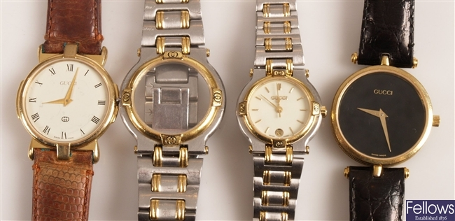 GUCCI - three ladies and gentleman's watches to