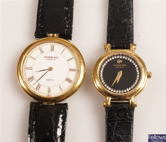 RAYMOND WEIL - four ladies and gentleman's gold
