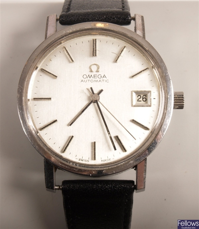 OMEGA - a gentleman's steel automatic watch with
