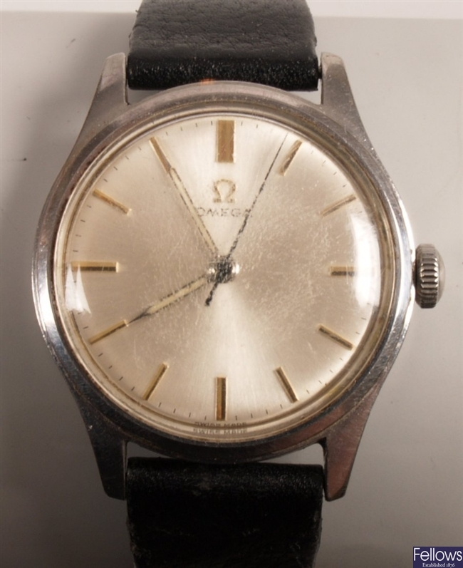 OMEGA - a gentleman's steel automatic wind watch