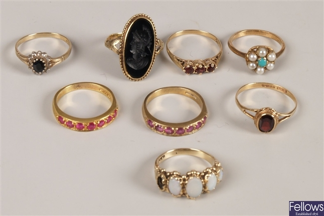 A small collection of rings to include a