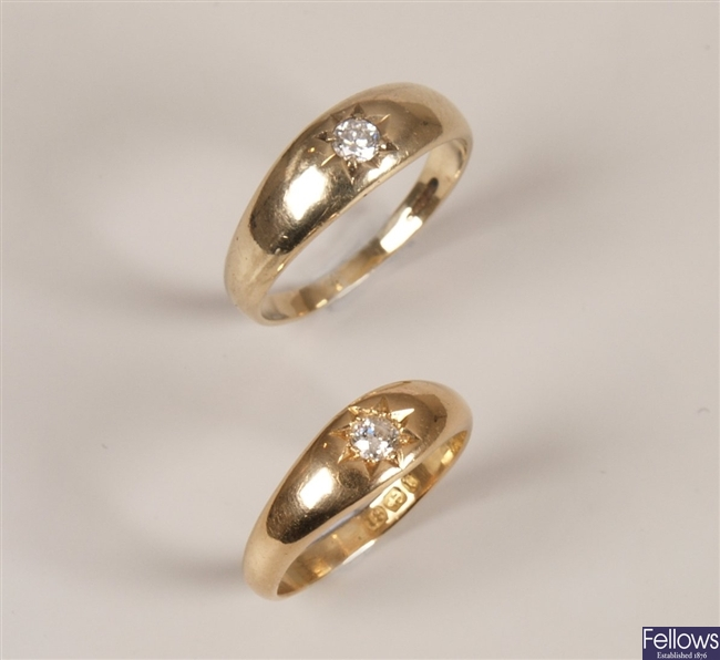 Two rings to include a Victorian 18ct gold