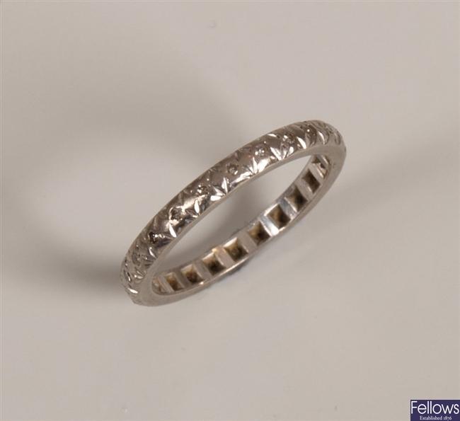 Diamond full eternity ring with illusion set