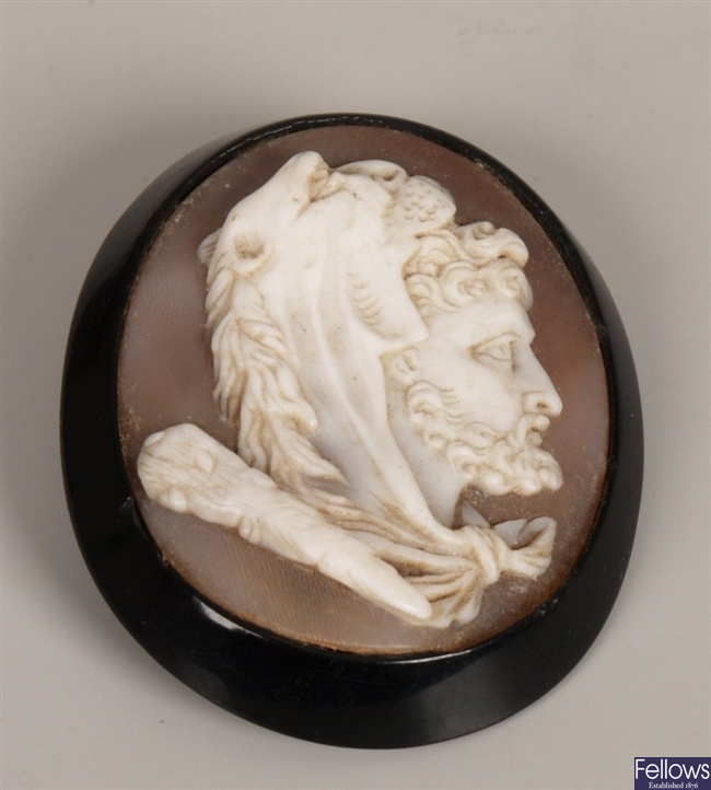 Hardstone cameo depicting Hercales in profile,