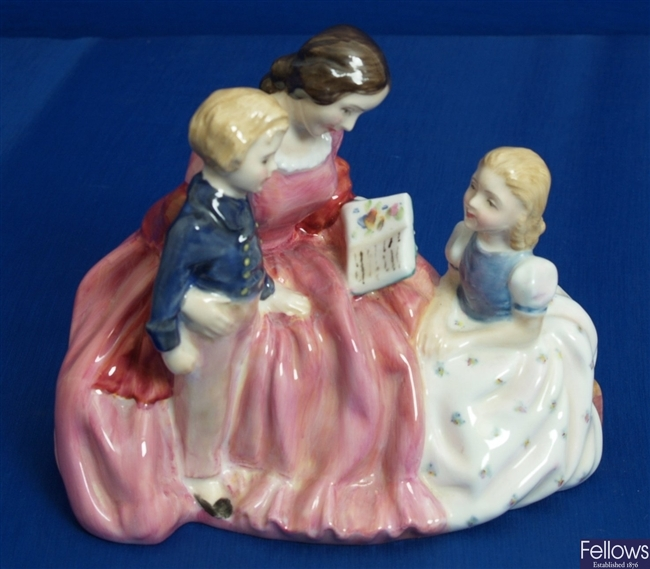 A Royal Doulton figure group 'The Bedtime Story',