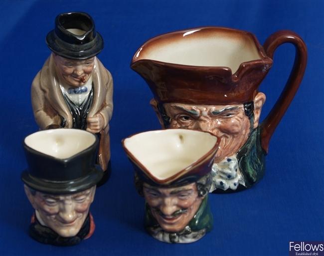 Two small Royal Doulton bone china character mugs