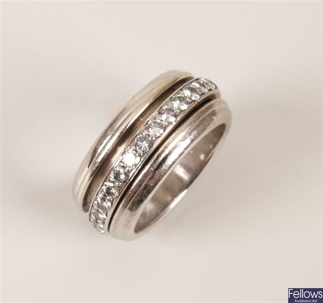 PIAGET - 18ct white gold diamond band ring with