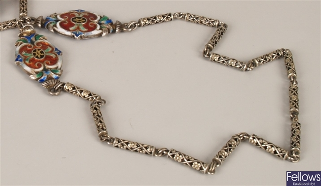Continental silver guard chain of individual