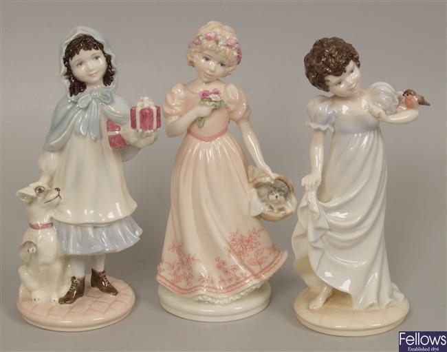 Three limited edition Caolport figurines 'A