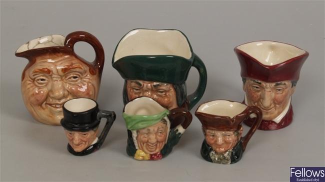 Three small Royal Doulton character jugs to