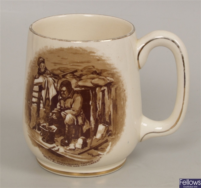 A Grimwades 'Bruce Bainsfather' pottery jug, the