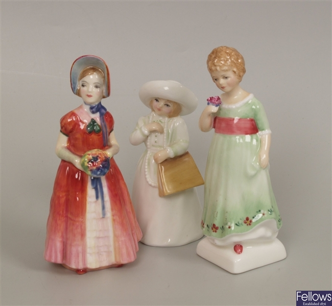 Three Royal Doulton figurines, Almost Grown, HN