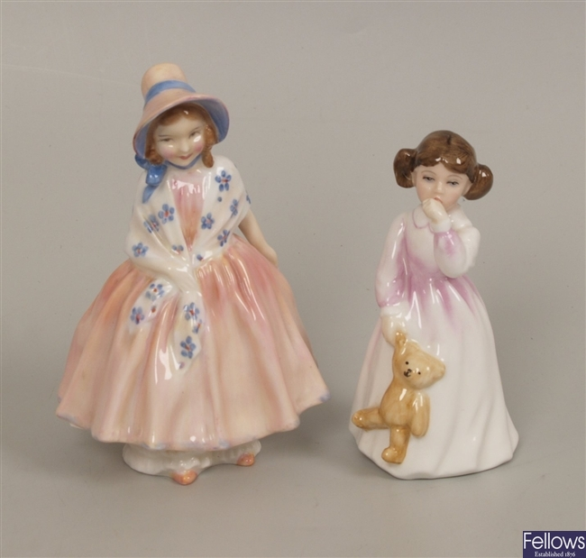 Three Royal Doulton figurines to include Lily, HN