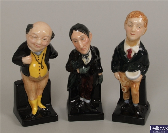 Three Royal Doulton figurines from the Dickens