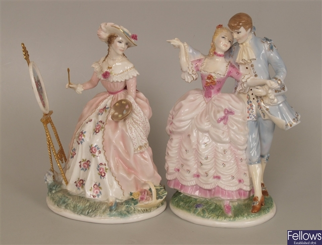 two Royal Worcester bone china limited edition