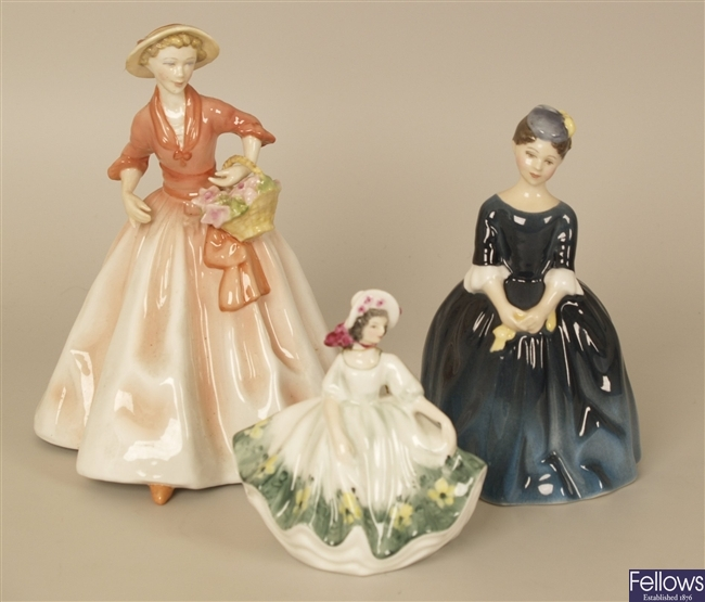 Two Royal Doulton figures, Cherie hn 2341 and