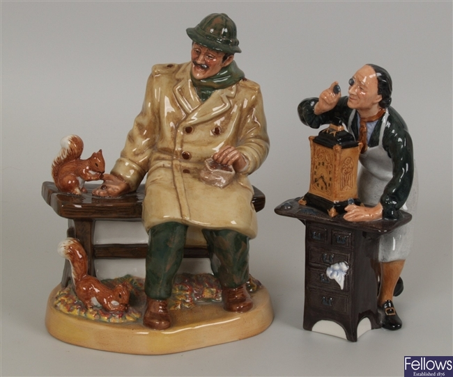 Two Royal Doulton figures Lunchtime HN 2485, and