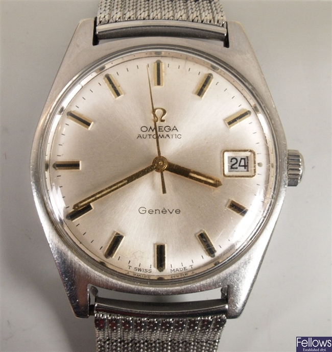 OMEGA - a gentleman's stainless steel Omega