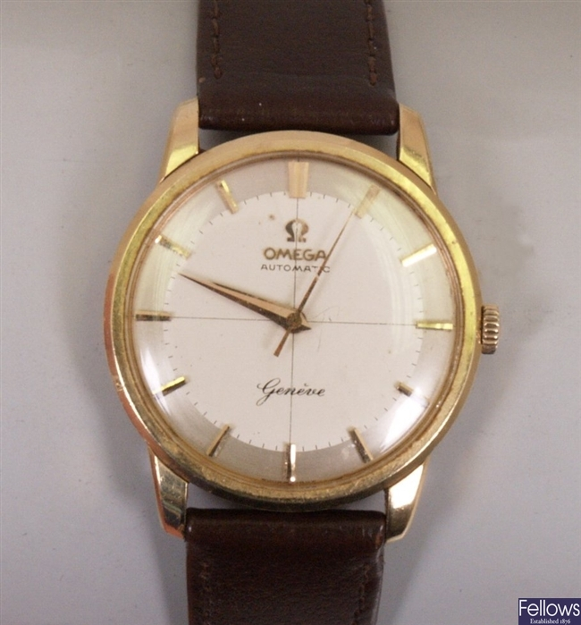 OMEGA - 20th century 18ct gold cased automatic