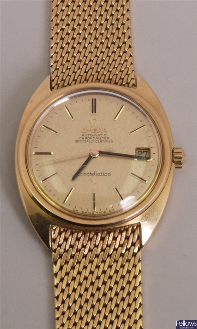 OMEGA - a gentleman's late 1960's 18ct gold