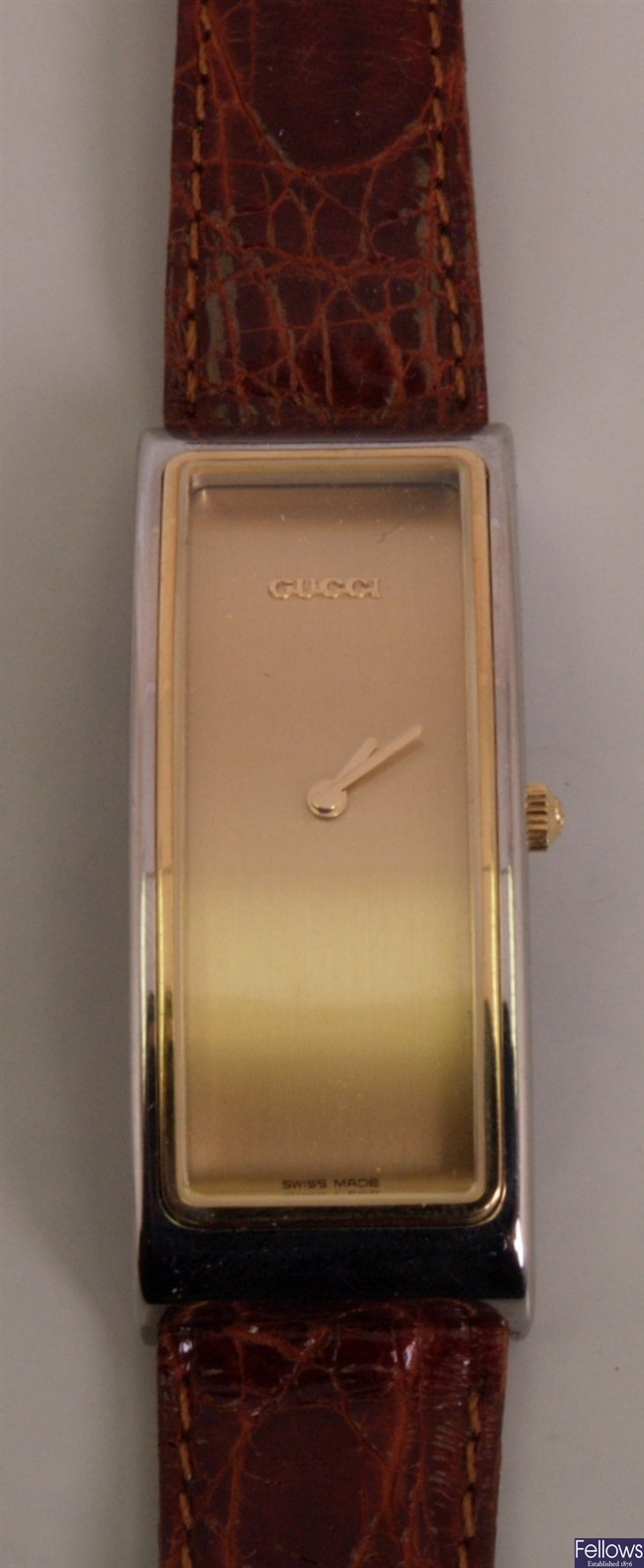 GUCCI - a ladies gold plated and steel 52000M