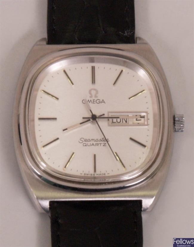 OMEGA - a gentleman's steel cased Seamaster