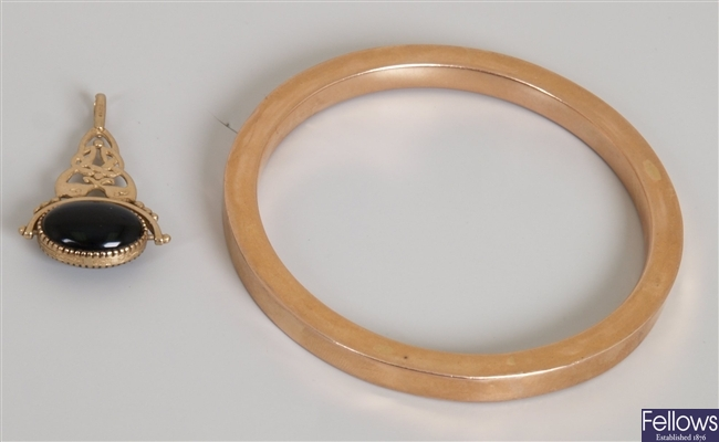 Two items, to include an early 20th century 9ct