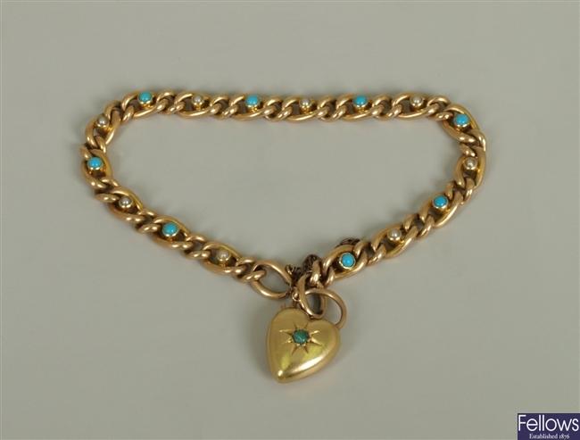 Early twentieth century curb link bracelet with