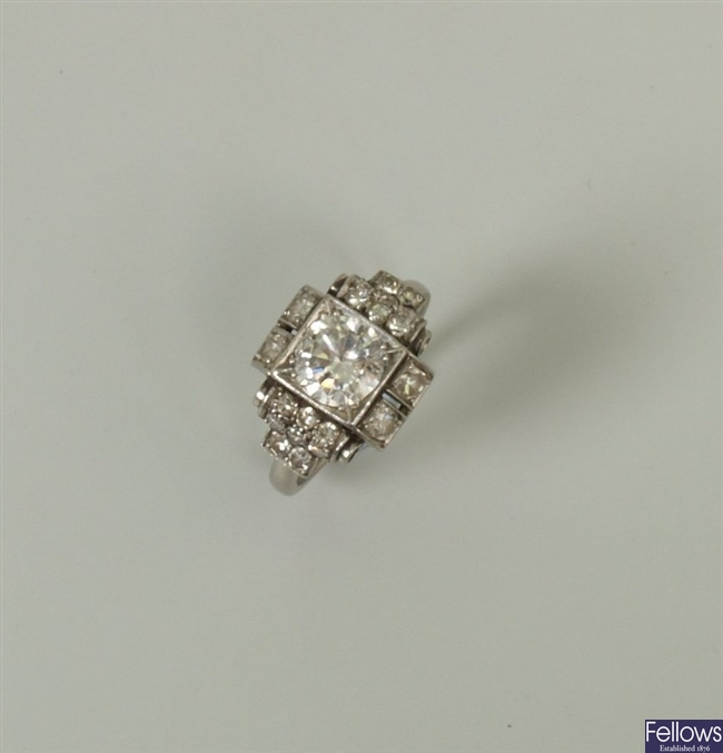 An early 20th century diamond ring, with a