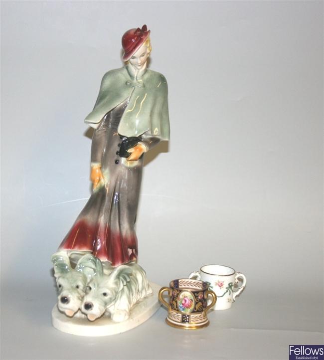 An Art Deco continental ceramic figure modelled