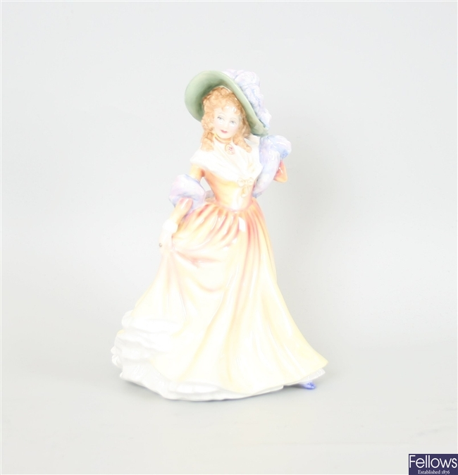 Eight various porcelain figurines to include