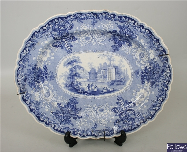 Three 19th century Rogers blue and white transfer