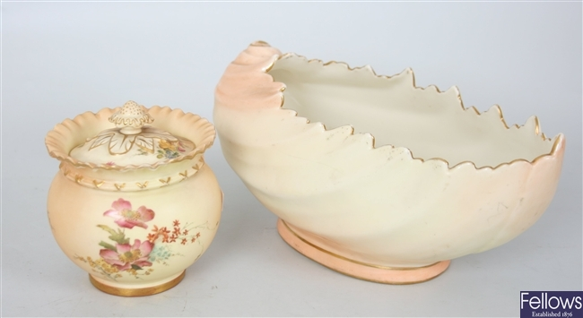 A large Locke and Co. Worcester porcelain bowl of
