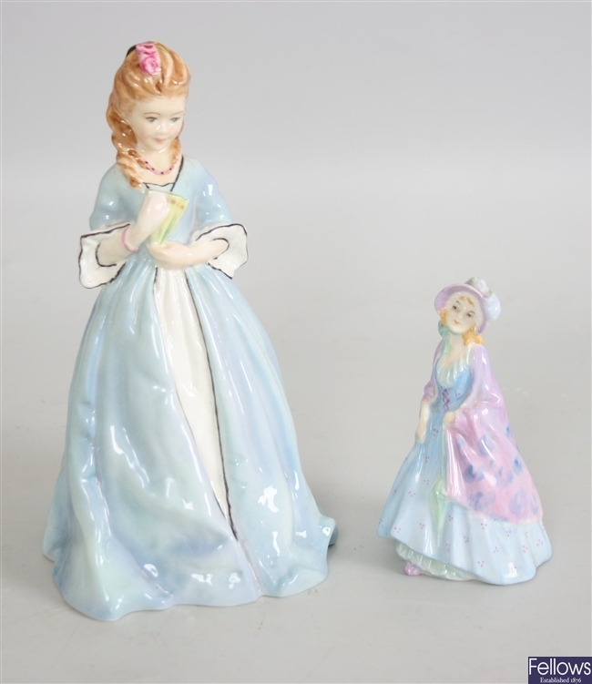 A Royal Worcester bone china figure ' Sweet Anne'