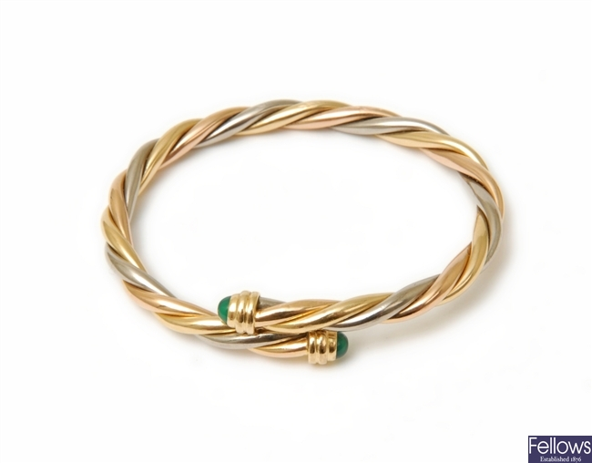 CARTIER - an 18ct tri-colour gold crossover