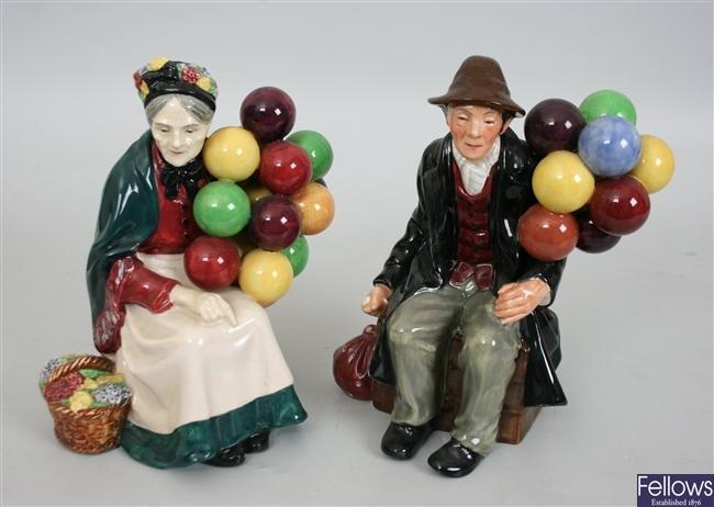 A Royal Doulton figure 'The Old Balloon Seller'