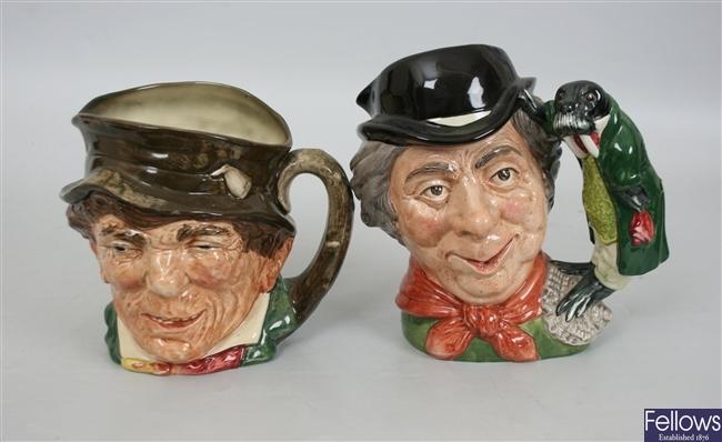 Three large Royal Doulton character jugs to