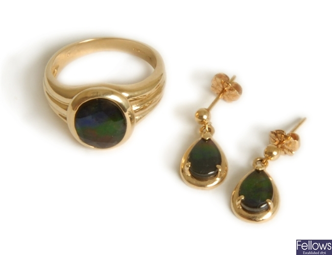 Two items, to include a 14ct gold ring with