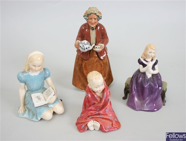 Four Royal Doulton bone china figurines to