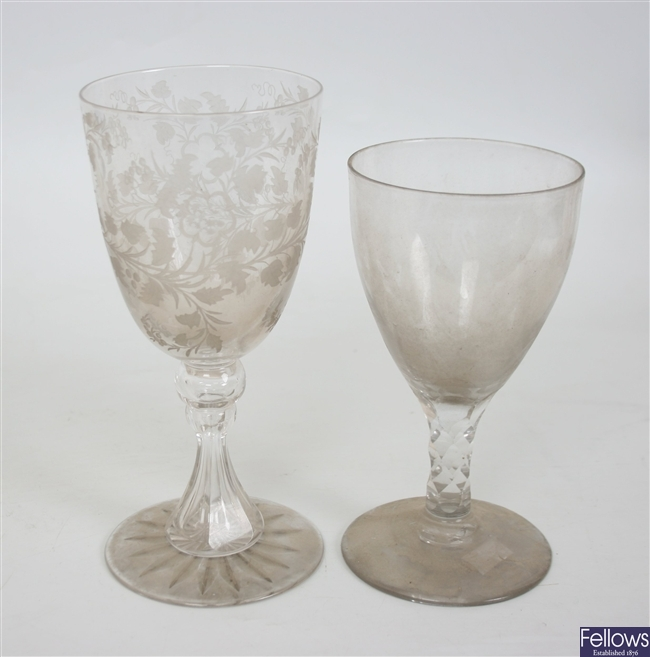 A large selection of antique and later drinking