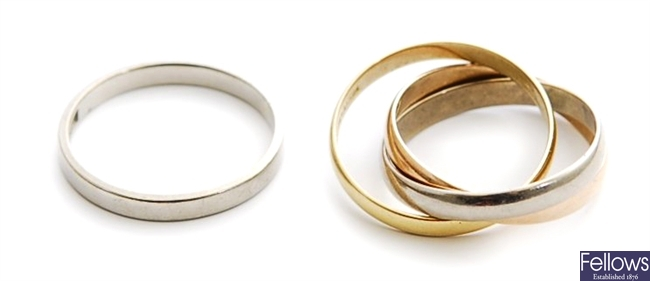 Two rings, to include an 18ct white gold diamond