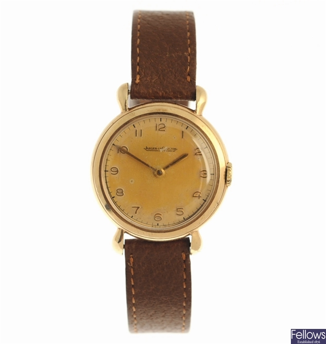 JAEGER-LECOULTRE - a 9ct gold manual wind