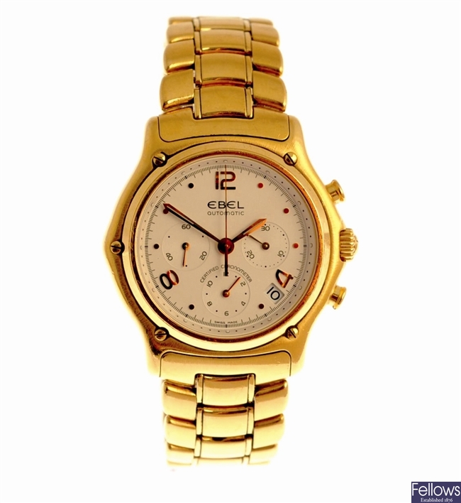 EBEL - an 18k gold automatic chronograph