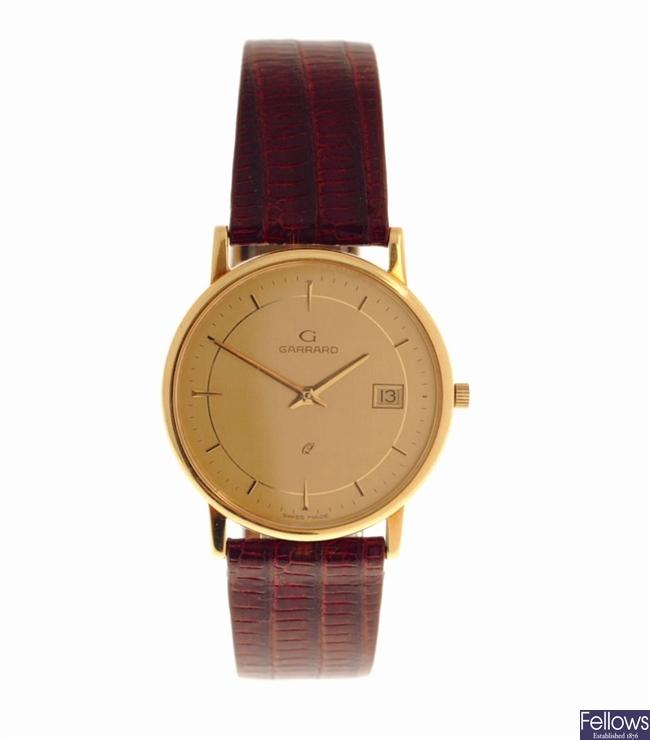 GARRARD - an 18k gold quartz gentleman's wrist