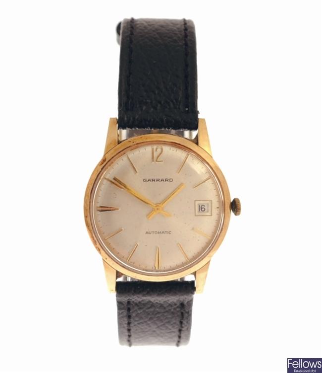 GARRARD - a manual wind gentleman's wrist watch,