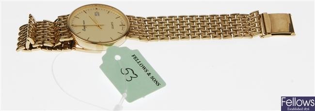 (102001883) gentleman's 9ct  wrist watch