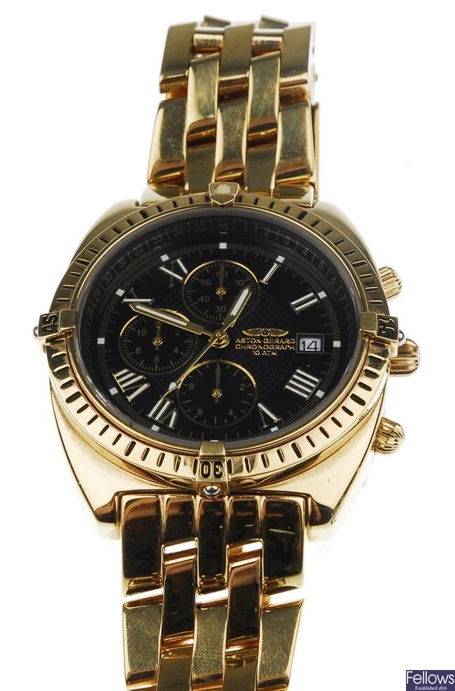 ASTON GERARD - a gentleman's gold plated watch