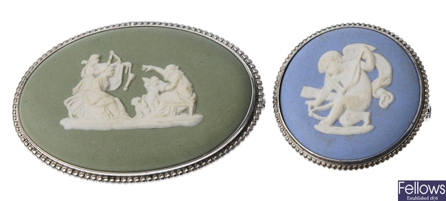 Two Wedgewood cameo's, both depicting a classical