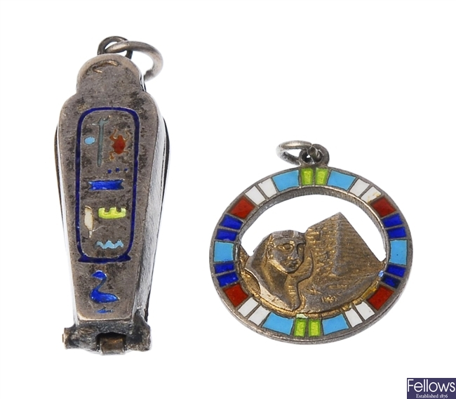 Two pieces of Egyptianeque jewellery to include a