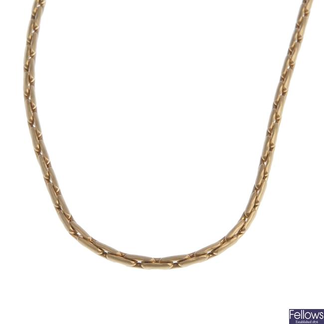 18ct gold belcher link chain.